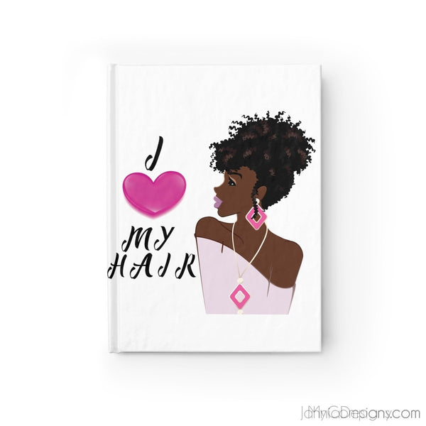 I Love My Hair Journal - Blank-Paper products-Jahnia Designs