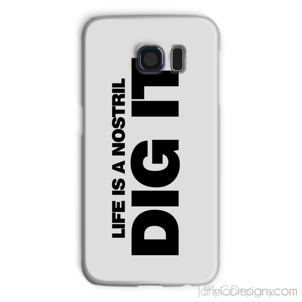 Life is a Nostril Dig It Phone Case-Phone & Tablet Cases-Jahnia Designs