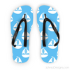Light Blue Nautical Flip Flops