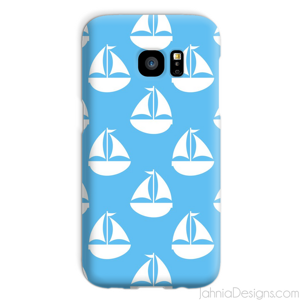 Light Blue Nautical Phone Case-Phone & Tablet Cases-Jahnia Designs