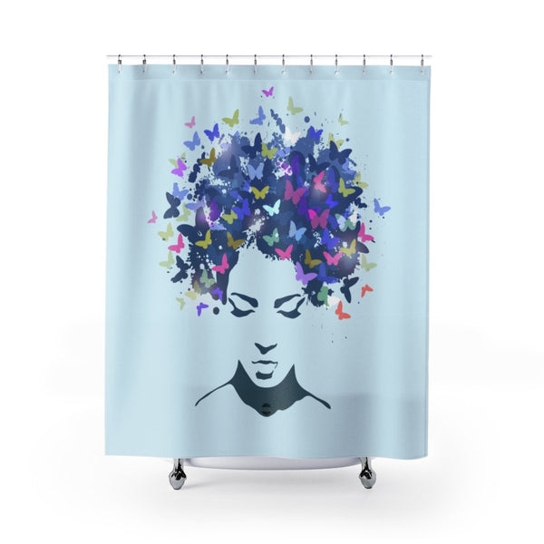 Madam Butterfly Shower Curtains-Home Decor-Jahnia Designs