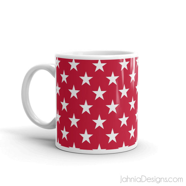 Red Superstar Mug-Mugs-Jahnia Designs