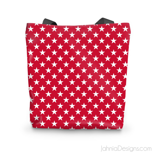 Red Superstar Tote Bag-Accessories-Jahnia Designs