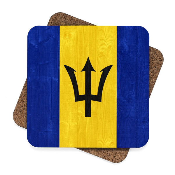 Square Hardboard Coaster Set - 4pcs (Barbados)