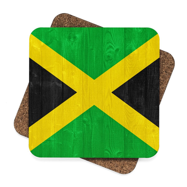 Square Hardboard Coaster Set - 4pcs (Jamaica)