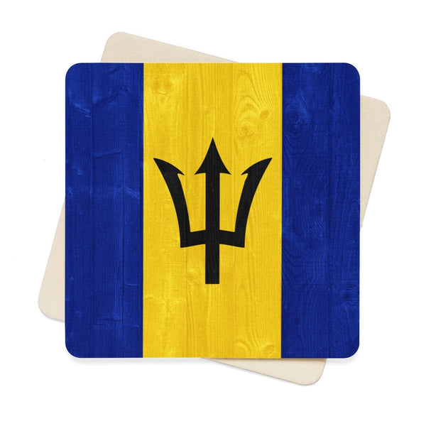 Square Paper Coaster Set - 6pcs (Barbados)