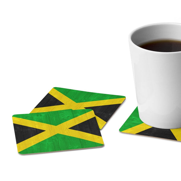 Square Paper Coaster Set - 6pcs (Jamaica)-Home Decor-Jahnia Designs