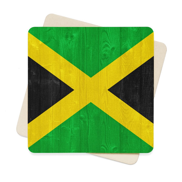 Square Paper Coaster Set - 6pcs (Jamaica)