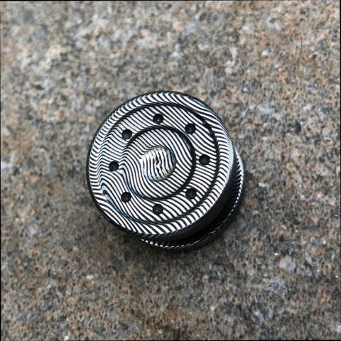 Bladelock Dense Twist Damasteel 21mm Button Set