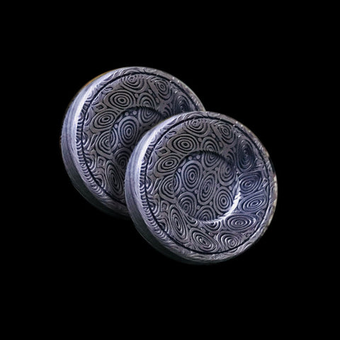 Boomerang Mini Heimskringla Damasteel 23mm Button Set
