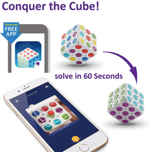 3D Puzzle Cube anyone can learn to solve! Brain Teaser AR Technology Toy for Kids cube 3x3 - KidMate