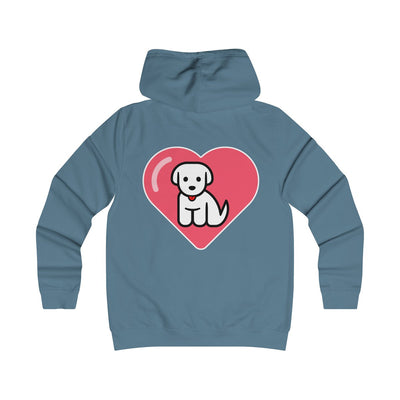 I Love Puppers - Girlie College Hoodie