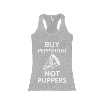 Buy Peperroni Not Puppers (Junior Racerback Tank)