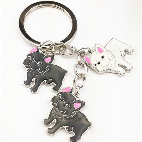 Cute Bull Dog Stainless Steel Key Chain