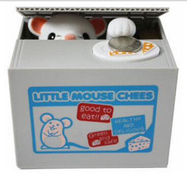 Mouse Stealing Coin Bank --- Mouse Gift Idea for Kids