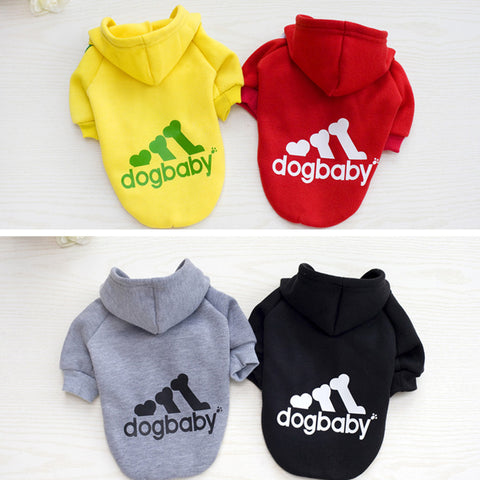 DogBaby Hoodie :: Trendy Dog Clothes w/ 24 Custom Size and Colors!
