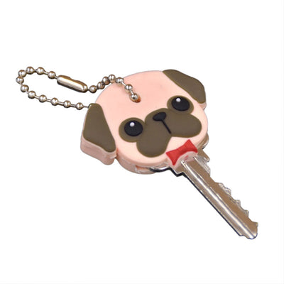 New Arrival!!! Cute Pug Silicone Key Cover & Chain