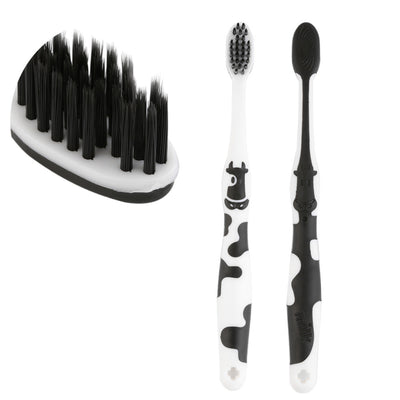 New!!! Black & White Bamboo Charcoal Soft Pet Toothbrush