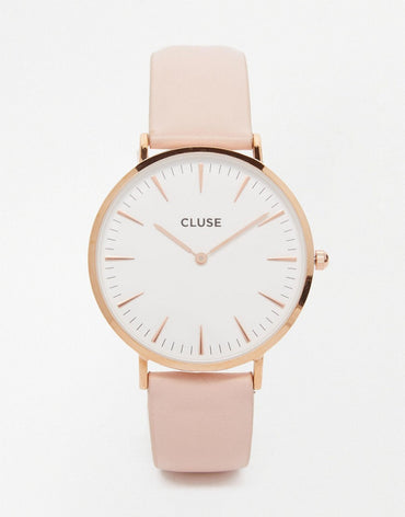 Pink Leather Watch