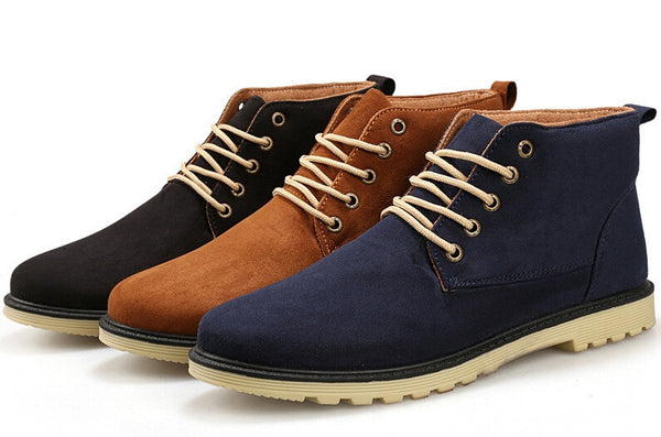 Leather Men Boots available in 3 colors Black/ Blue/ Brown