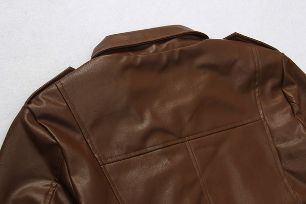 Mens leather jacket available in 2 colors Black/ Brown
