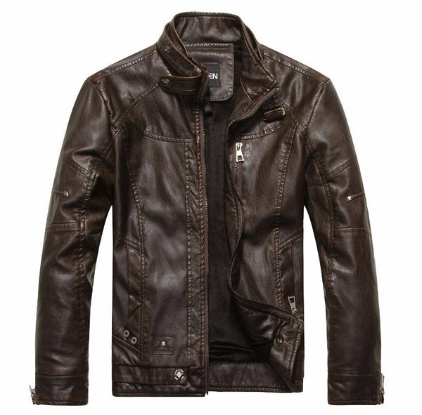 Mens  Leather Jackets Autumn/ Winter/ Spring available in 3 colors