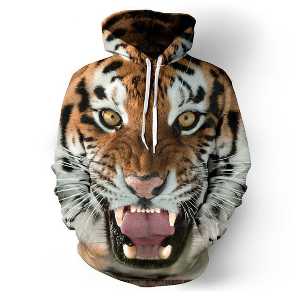 Hoodies 3D Tiger Lion