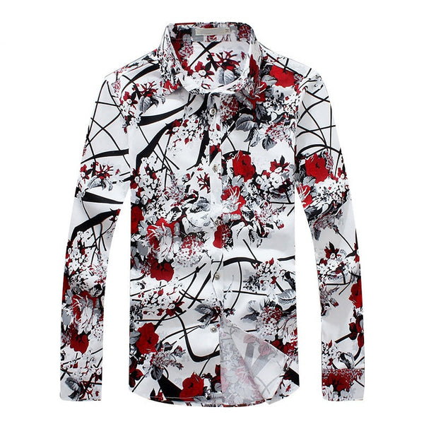 Mens Floral shirt  long sleeve available 2 colors