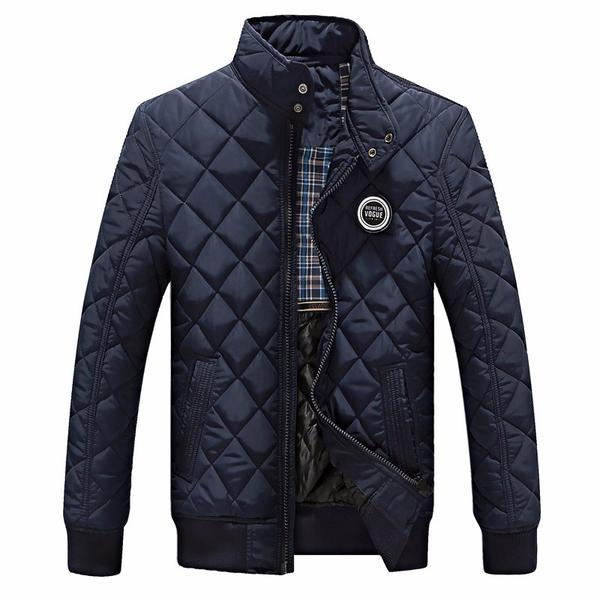Winter jacket men autumn cotton quilted 2 colors