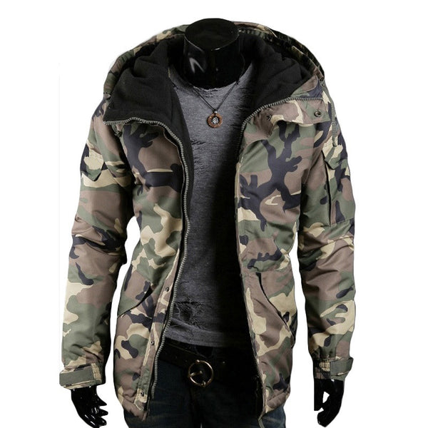 Mens Camouflage Jacket hooded available 2 colors