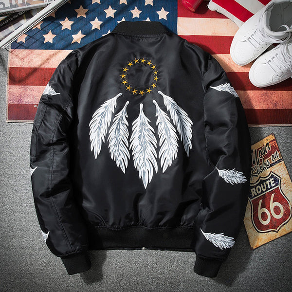 Bomber Jacket Men Feather 2 colors