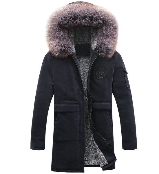 Men's long down jacket 2 colors