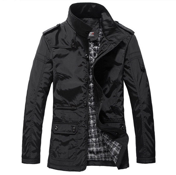 Mens jacket Spring/ Autumn available 2 colors Black/ Khaki