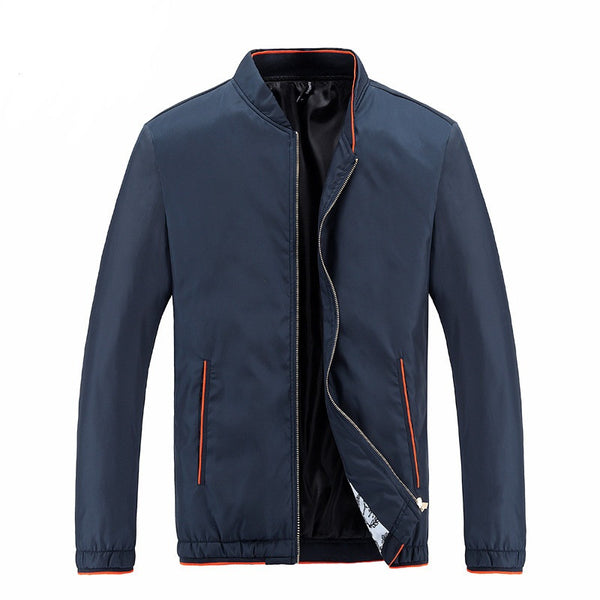 Mens jacket 4 colors Blue/ Black / Gray / Deep Blue