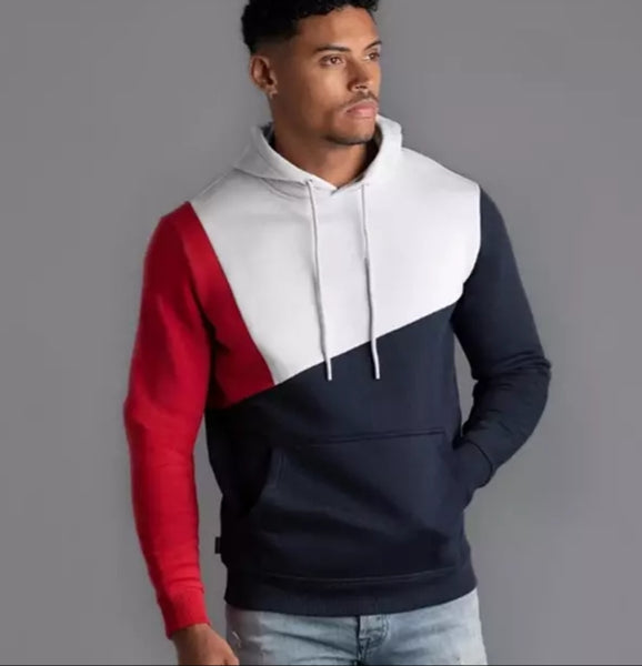 Mens Hoodies Patchwork  3 colors