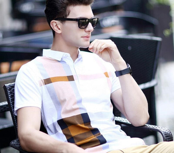 polo shirts casual men's short-sleeved 2  colors