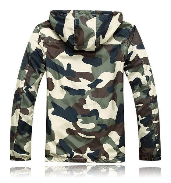 Men Camouflage Jacket Summer Hooded 2 colors