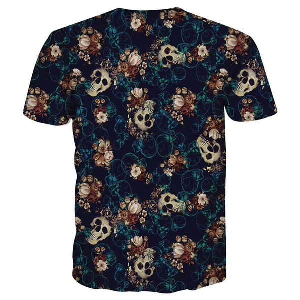 T-shirt men's 3d funny print many skull