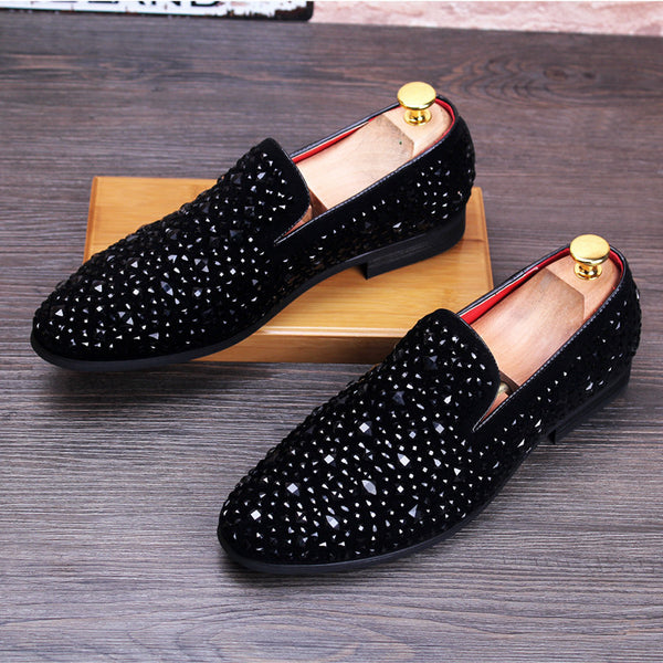 Mens fashion loafers rhinestone available in 2 options