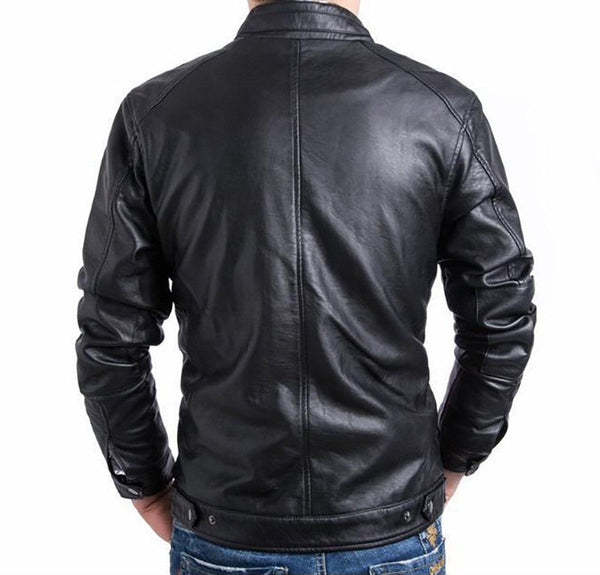 Casual Men's Leather Jacket available in 2 colors Black/ Brown