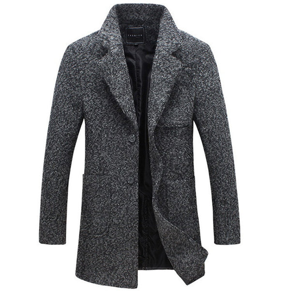 Mens Coat Wool available in 2 colors