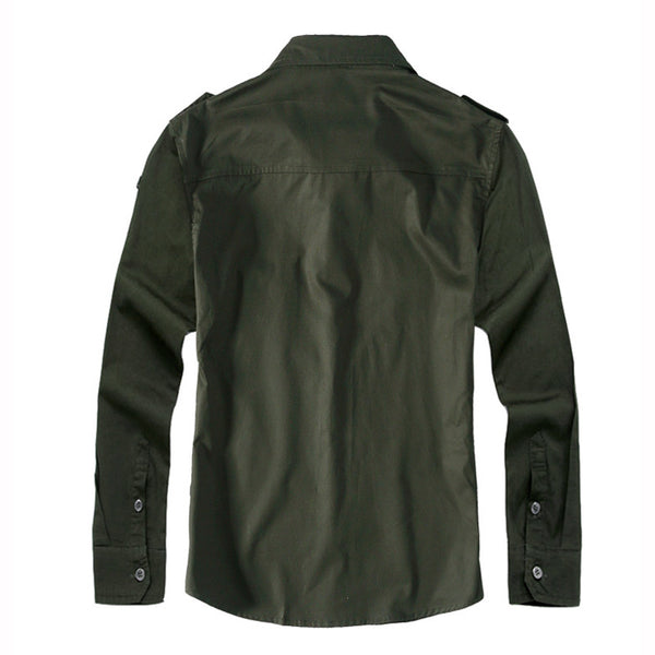 Men's long sleeved shirt military uniform style 3 colors