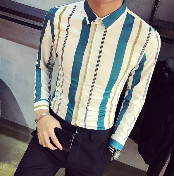 Men's shirt striped 2 colors