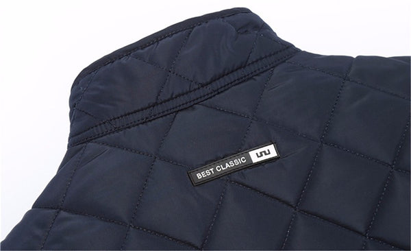 Winter jacket men autumn cotton quilted