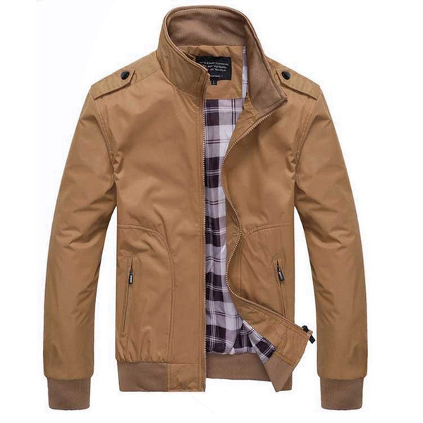 Mens Jacket Spring and Autumn available 4 colors Black/ Gray/ Green/ Khaki