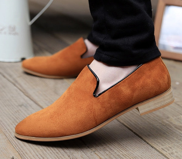 Suede loafers available in 4 colors