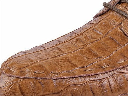 Aligator-style Leather Lace-up