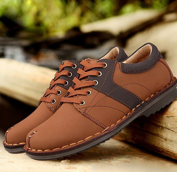 Mens genuine leather shoes available 3 colors
