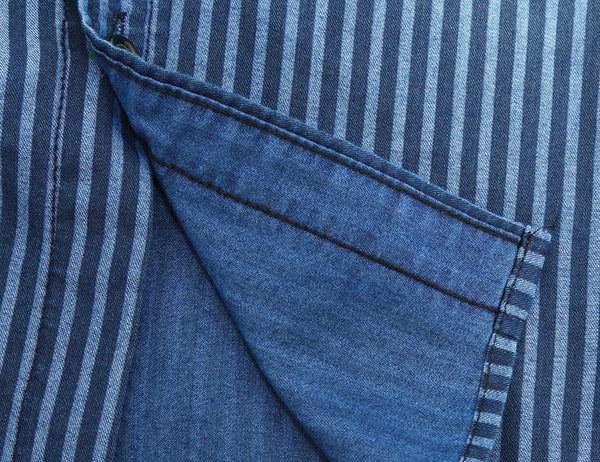 Mens Denim Shirt Striped