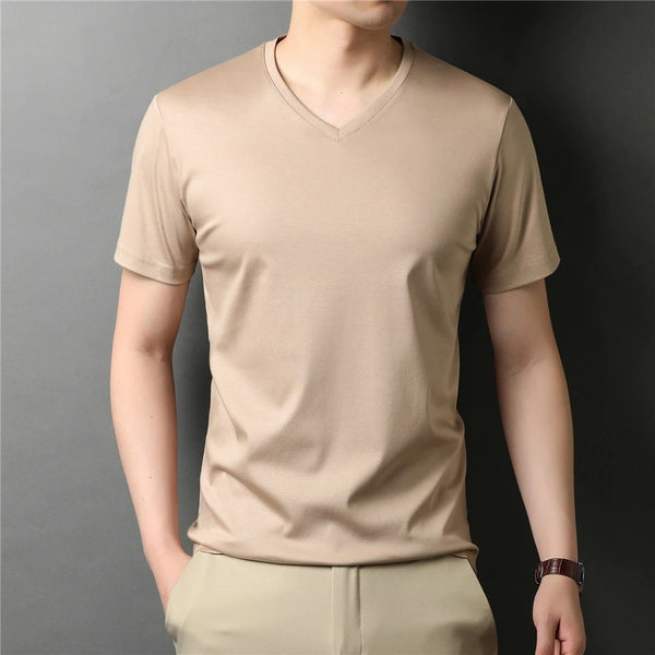 Cotton V Neck T-Shirt